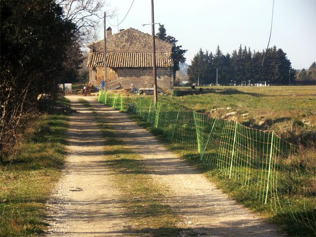 l'entrée de la ferme en mars 2016