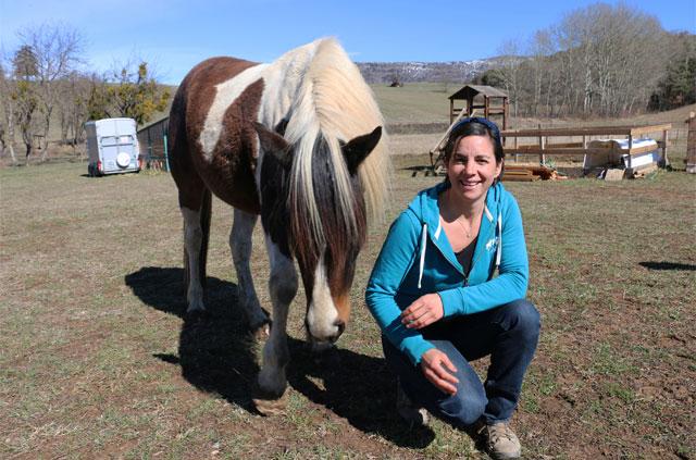 Marie et ses chevaux