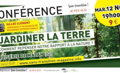 Conférence Jardiner la terre