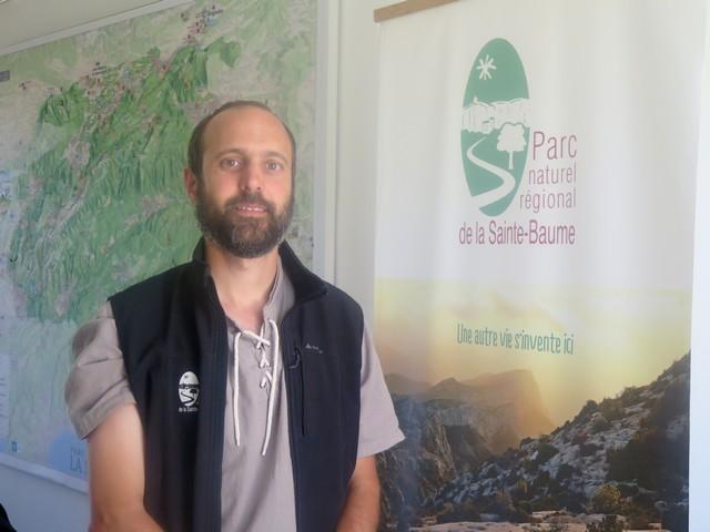 Alaric Stephan travaille au Parc de la Sainte-Baume