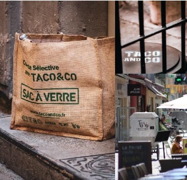 Pour la collecte du verre dans le centre d'Arles, Taco & Co fournit des sacs solides, pratiques et écolo