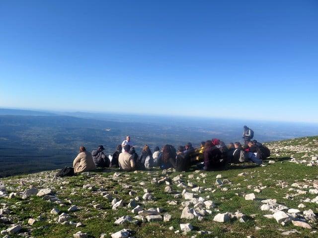 Au sommet du Ventoux face sud