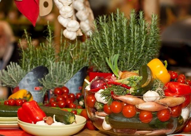 la diète méditerranéenne et les légumes